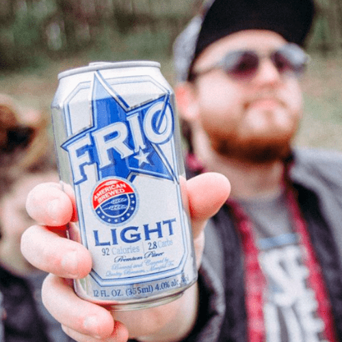 Enjoy FRIO Can held in hand