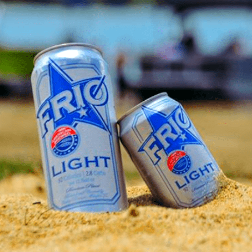 Enjoy FRIO Cans in Sand