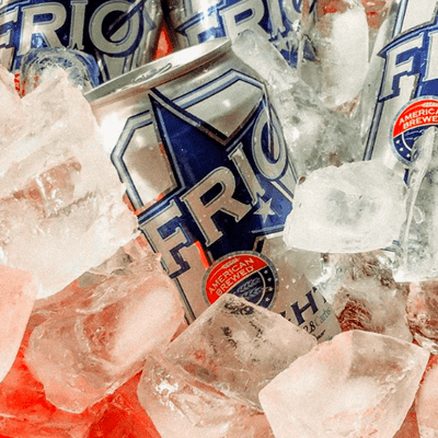 Enjoy FRIO can in ice chest